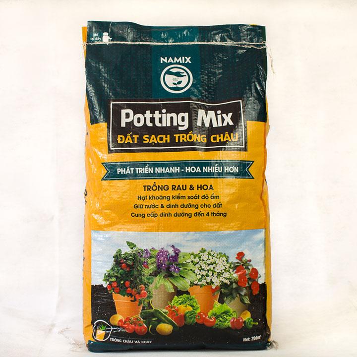 Sản phẩm đất sạch trồng rau và hoa. Namix potting mix